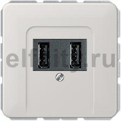 Зарядное USB устройство на два выхода , 2х750 мА / 1х1500 мА, светло-серый