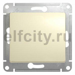 Выключатель одноклавишный, проходной (вкл/выкл с 2-х мест) 10 А / 250 В, бежевый