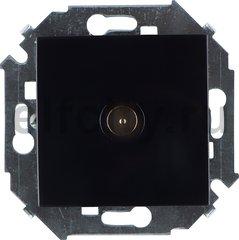 Розетка телевизионная одиночная TV, диапазон частот от 5 до 2400 Mгц, черный