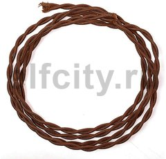 Ретро кабель плетеный 2х1,5 шоколад