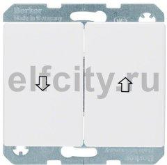 Выключатель управление жалюзи, клавишный, 10 А / 250 В, полярная белизна