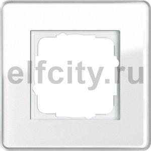 Рамка 1 пост, стекло белое Glass C