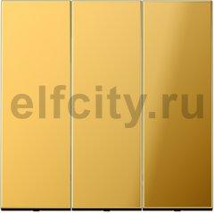 Выключатель, переключатель 3-х клавишний, (вкл/выкл с 1-го и 2-х мест) 10 А / 250 В, металл под золото