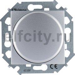 Диммер (светорегулятор) поворотно-нажимной 40-500 Вт для ламп накаливания и галогенных 220В, алюминий