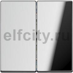 Выключатель двухклавишный, проходной (вкл/выкл с 2-х мест) 10 А / 250 В, блестящий хром