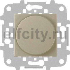 Диммер (светорегулятор) поворотно-нажимной 60-500 Вт для ламп накаливания и галогенных 220В, шампань