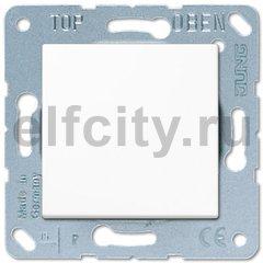 Выключатель одноклавишный, 10 А / 250 В, пластик белый глянцевый