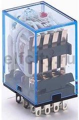 Промежуточное реле 4 конт. с инд. LED 3А 12В AC ПР-1