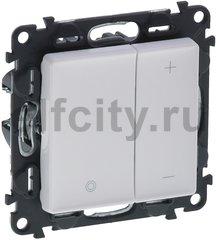Диммер (светорегулятор) кнопочный 5-75 Вт для светодиодных диммируемых ламп и 5-400 Вт для ламп накаливания, белый