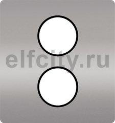 Монтажная плата для механизмов с двумя коннекторами, цвет Chrome ,черный