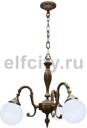 Люстра со стеклом - Milazzo II, цвет: светлая патина