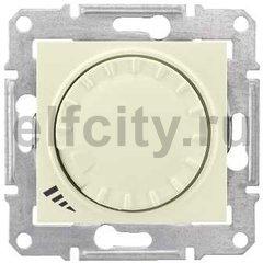 Диммер (светорегулятор) поворотный 60-600 Вт для ламп накаливания и галогенных 220В, бежевый