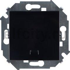 Выключатель одноклавишный, с подсветкой, 10 А / 250 В, черный