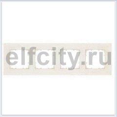 DELTA MIRO РАМКА 4-ПОСТ. РАЗМЕРЫ 90X90 MM ЭЛЕКТРОБЕЛЫЙ