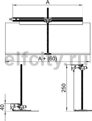 Комплект для ответвления канала OKA-G/W 200 мм налево (сталь,40-240 мм)