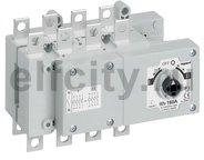 Перекидной выключатель-разъединитель DCX-M - 160 А - типоразмер 2 - 3П+Н - плоские выводы