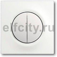 Выключатель двухклавишный с подсветкой, 10 А / 250 В, белый бархат