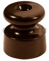 Керамический кабельный изолятор, в упаковке 25 штук, коричневый