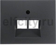 Центральная панель для UAE/E-DAT Design/Telekom розетка ISDN цвет: антрацитовый, матовый Berker K.1