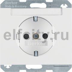 Розетка с заземляющими контактами 16 А / 250 В, с защитой от детей, автоматические зажимы, полярная белизна
