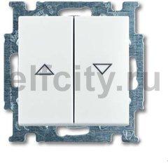 Выключатель управления жалюзи, 10 А / 250 В, альпийский белый
