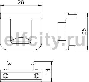 Фиксатор для разгрузки кабеля от натяжения (полиамид)