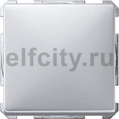 Выключатель одноклавишный, 10 А / 250 В, пластик под алюминий