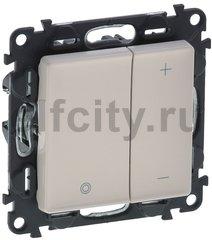Диммер (светорегулятор) кнопочный 5-75 Вт для светодиодных диммируемых ламп и 5-400 Вт для ламп накаливания, слоновая кость