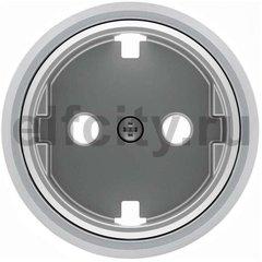 Накладка для розетки SCHUKO с плоской поверхностью, серия SKY Moon, кольцо хром