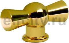 Ручка латунная для выключателя поворотного, красное золото