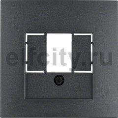 Центральная панель для розетки TAE, B.1/B.3/B.7, цвет: антрацитовый, матовый