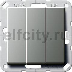 Клавишный выключатель. Переключатель 3-клавишный, нержавеющая сталь
