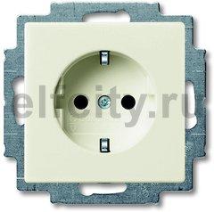 Розетка с заземляющими контактами 16 А / 250 В, с защитой от детей, автоматические зажимы, шале-белый