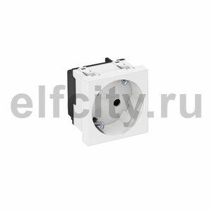 Розетка одинарная 33° с з/к, 250 В, 16A (белый)