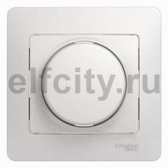 Диммер (светорегулятор) поворотный 60-300 Вт для ламп накаливания и галогенных 220В, белый