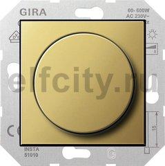Диммер (светорегулятор) поворотный 60-600 Вт для ламп накаливания и галогенных 220В, латунь