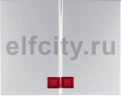 Клавиши с красной линзой, K.5, цвет: алюминий