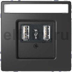 Зарядное USB устройство , 2,1А (2*1,05), антрацит