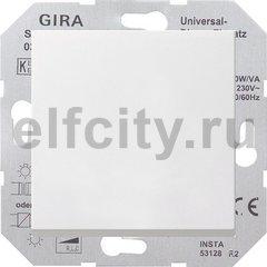 Диммер (светорегулятор) клавишный универсальный 50-420 Вт для ламп накаливания и низковольтных галогенных ламп, пластик белый глянцевый