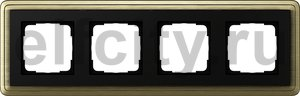 Рамка 4 поста, для горизонтального/вертикального монтажа, бронза/черный