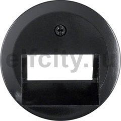 Центральная панель для UAE/E-DAT Design/Telekom розетка ISDN цвет: черный, с блеском серия 1930/Glasserie/Palazzo