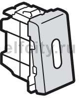 Выключатель, переключатель одноклавишный, 1-н модуль, с подсветкой, (вкл/выкл с 1-го и 2-х мест), 10 А / 250 В, алюминий