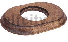 Рамка 1 пост для элементов внутреннего монтажа (овал), дуб коричневый