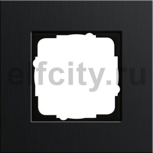 Рамка 1 пост, алюминий черный