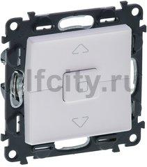 Выключатель управления жалюзи, кнопочный, 10 А / 250 В, белый