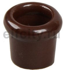 Втулка керамическая, используется для вывода кабеля из стены, коричневый