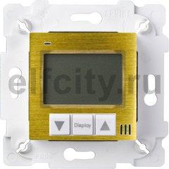 Термостат для электрического подогрева пола 230 В~ 16А , с датчиком температуры пола, бронза светлая/белый