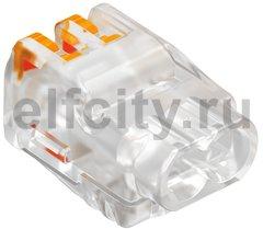 Клемма OBO универсальная пружинная c зажимом 2x2,5mm2, прозрачная