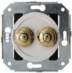 Выключатель кнопочный двойной, работает только в импульсном режиме, 10А / 250В, бронза / коричневый