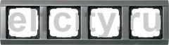 Рамка 4 поста, для горизонтального/вертикального монтажа, серия 20